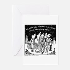 Dog Christmas Carols! Greeting Cards (Pk of 20)