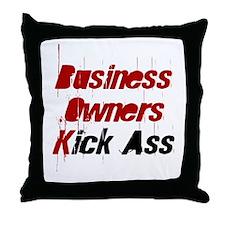 Business Owners  Kick Ass Throw Pillow