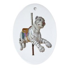 carousel tiger Oval Ornament