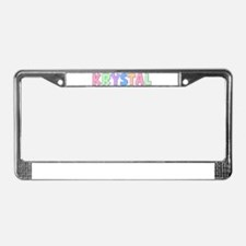 Krystal Rainbow Pastel License Plate Frame