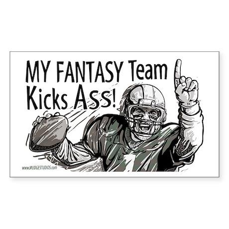 Fantasy Football QB Rectangle Sticker