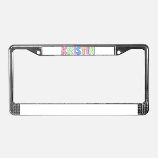 Kristin Rainbow Pastel License Plate Frame
