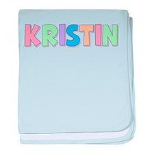 Kristin Rainbow Pastel baby blanket