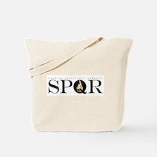 SPQR Black Tote Bag