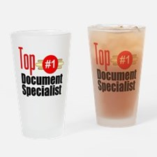 Top Document Specialist Drinking Glass