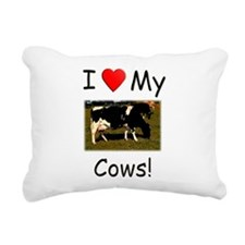 Love My Cows Rectangular Canvas Pillow