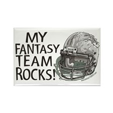 Fantasy Football Helmet Rectangle Magnet