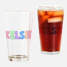 Kelsie Rainbow Pastel Drinking Glass