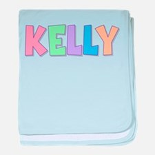Kelly Rainbow Pastel baby blanket