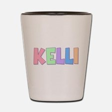 Kelli Rainbow Pastel Shot Glass