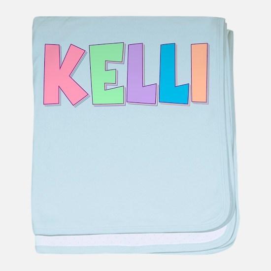 Kelli Rainbow Pastel baby blanket