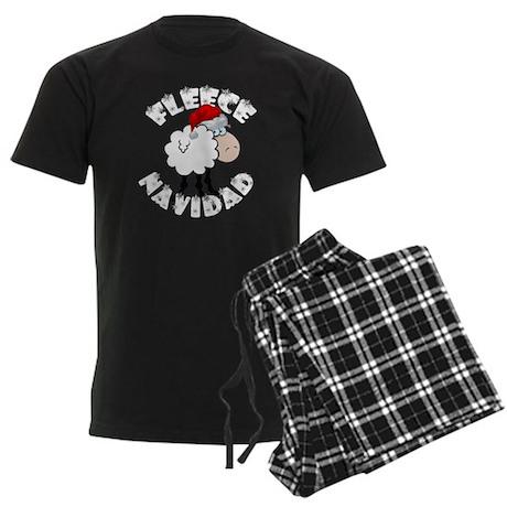 Fleece Navidad Men's Dark Pajamas
