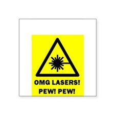Laser Pew Pew Sticker
