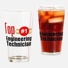 Top Engineering Technician Drinking Glass