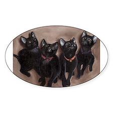 kittens II Oval Decal