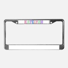 Katelynn Rainbow Pastel License Plate Frame