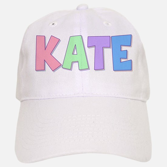 Kate Rainbow Pastel Baseball Baseball Cap