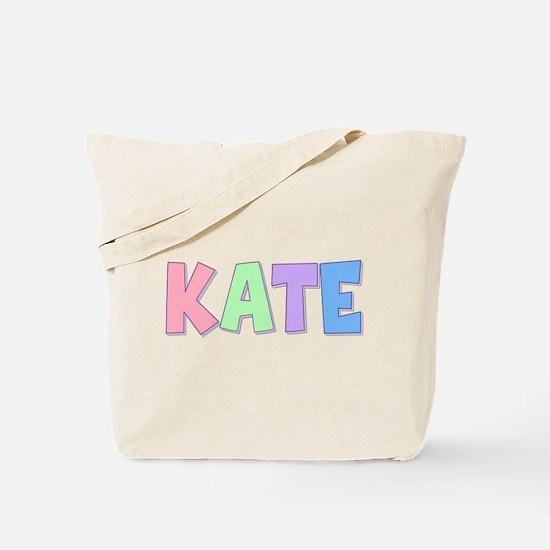 Kate Rainbow Pastel Tote Bag