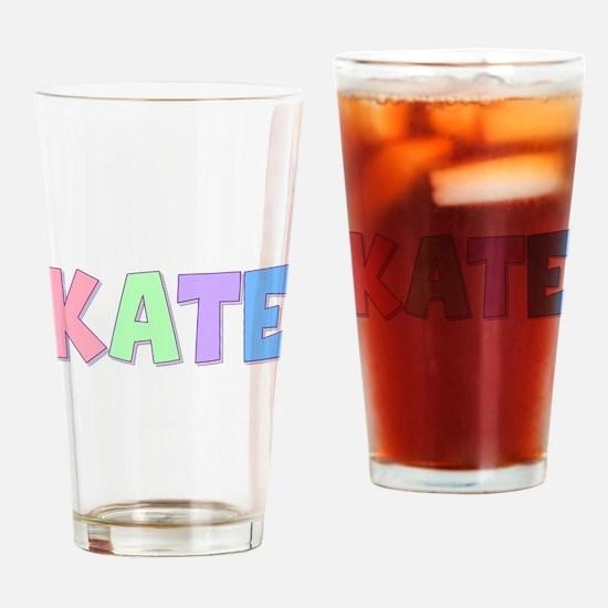Kate Rainbow Pastel Drinking Glass