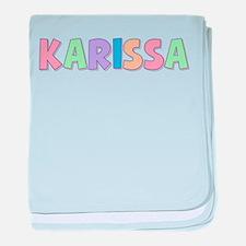 Karissa Rainbow Pastel baby blanket