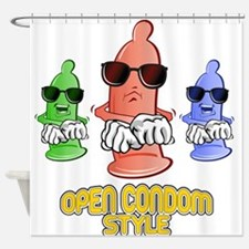 Open Condom Style Dancers Shower Curtain