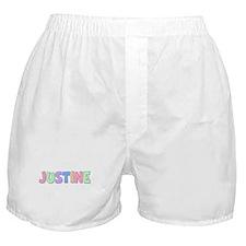 Justine Rainbow Pastel Boxer Shorts