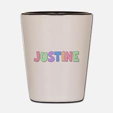 Justine Rainbow Pastel Shot Glass