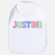 Justine Rainbow Pastel Bib