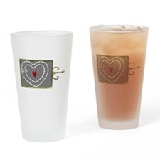 Heart Was Two Sizes Too Small Drinking Glass