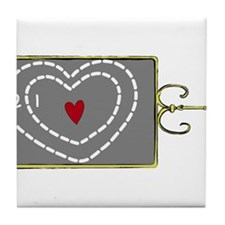 Heart Was Two Sizes Too Small Tile Coaster
