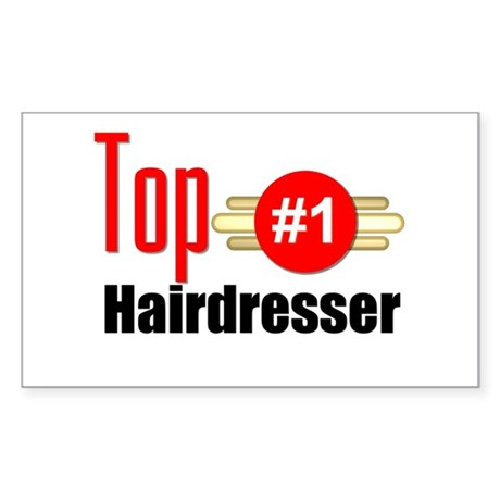 Top Hairdresser Sticker (Rectangle)