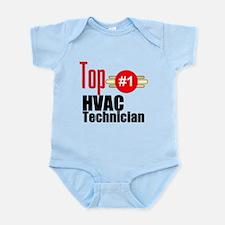 Top HVAC Technician Infant Bodysuit