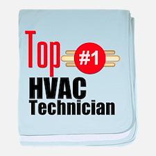 Top HVAC Technician baby blanket