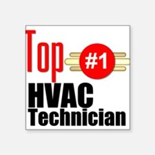 "Top HVAC Technician Square Sticker 3"" x 3"""