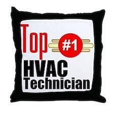 Top HVAC Technician Throw Pillow