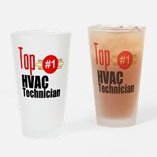 Top HVAC Technician Drinking Glass