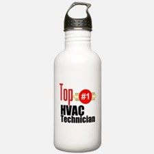 Top HVAC Technician Water Bottle