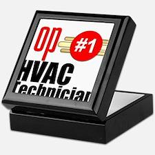 Top HVAC Technician Keepsake Box