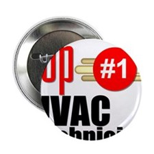 "Top HVAC Technician 2.25"" Button"