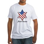 Jewish American Star Fitted T-Shirt