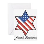 Jewish American Star Greeting Cards (Pk of 10)