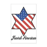 Jewish American Star Mini Poster Print