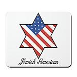 Jewish American Star Mousepad