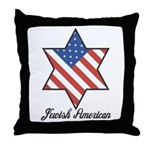 Jewish American Star Throw Pillow