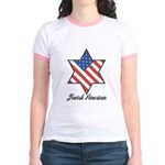 Jewish American Star Jr. Ringer T-Shirt