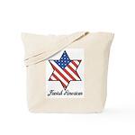 Jewish American Star Tote Bag