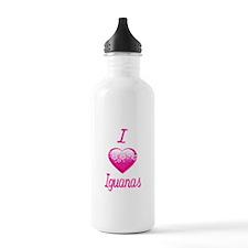 I Love/Heart Iguanas Water Bottle