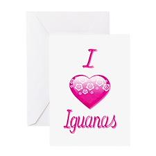 I Love/Heart Iguanas Greeting Card