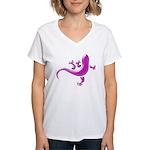 Pink Gecko Women's V-Neck T-Shirt