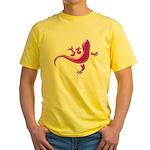 Pink Gecko Yellow T-Shirt